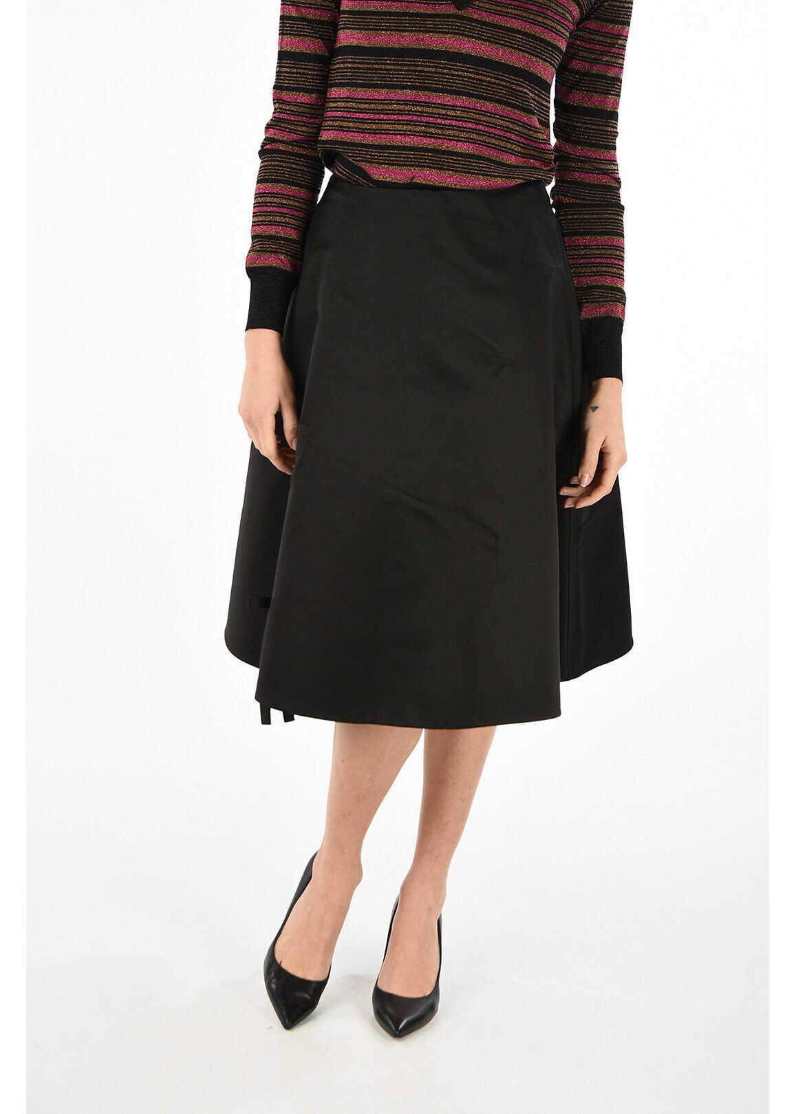 Prada silk skirt BLACK