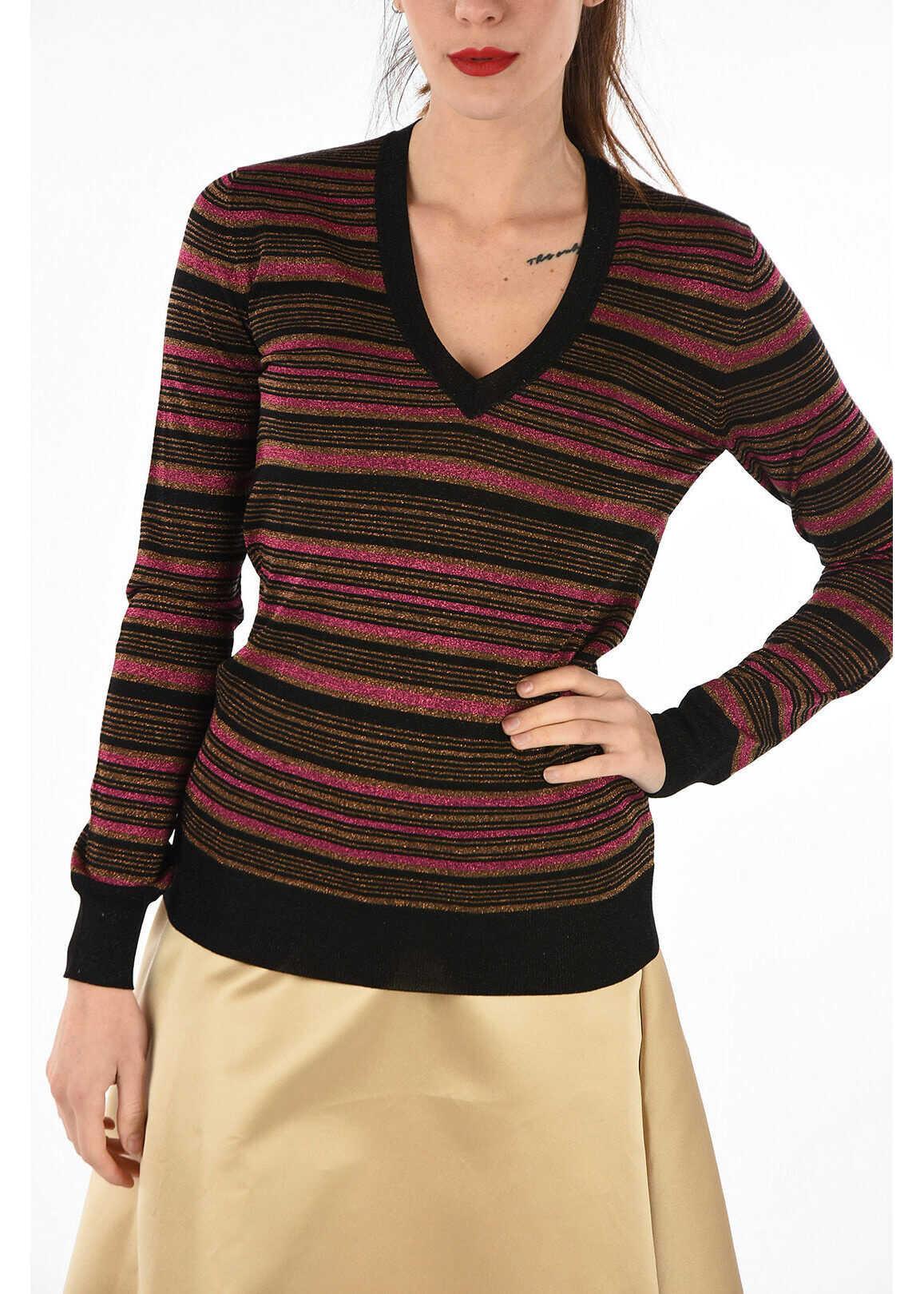 Prada Glittered striped sweater MULTICOLOR