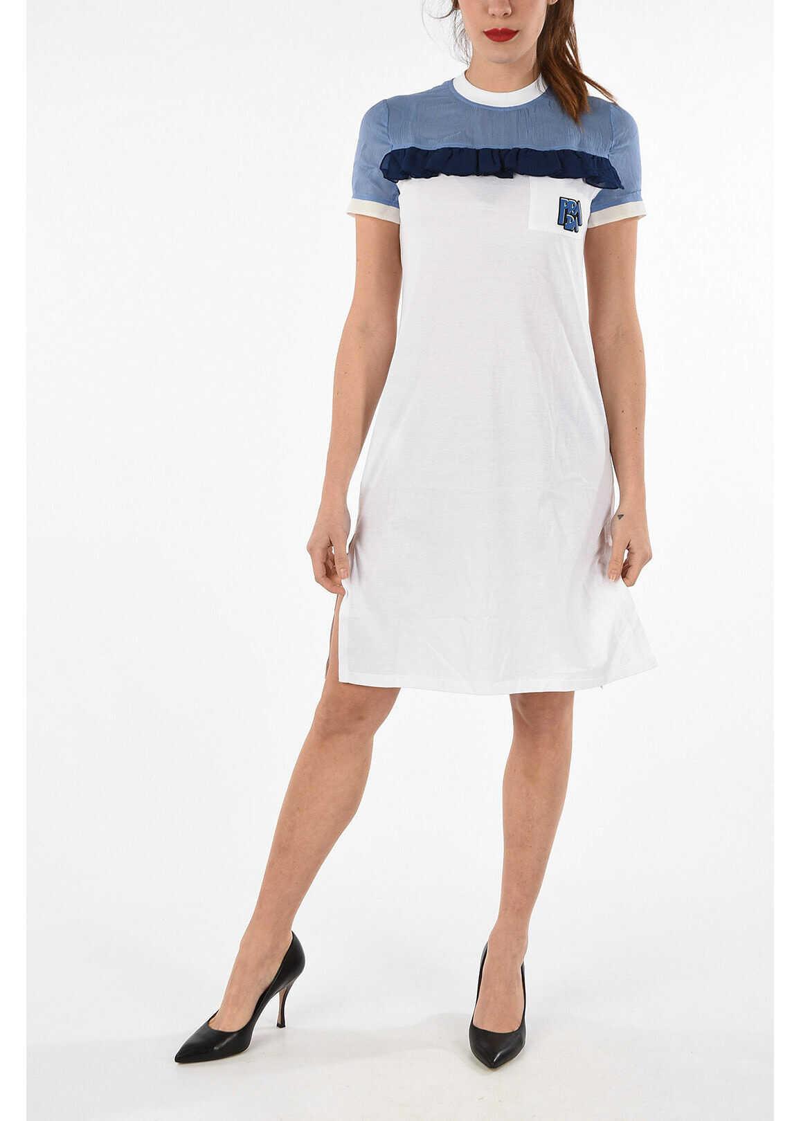 Prada cotton and silk shirt dress MULTICOLOR