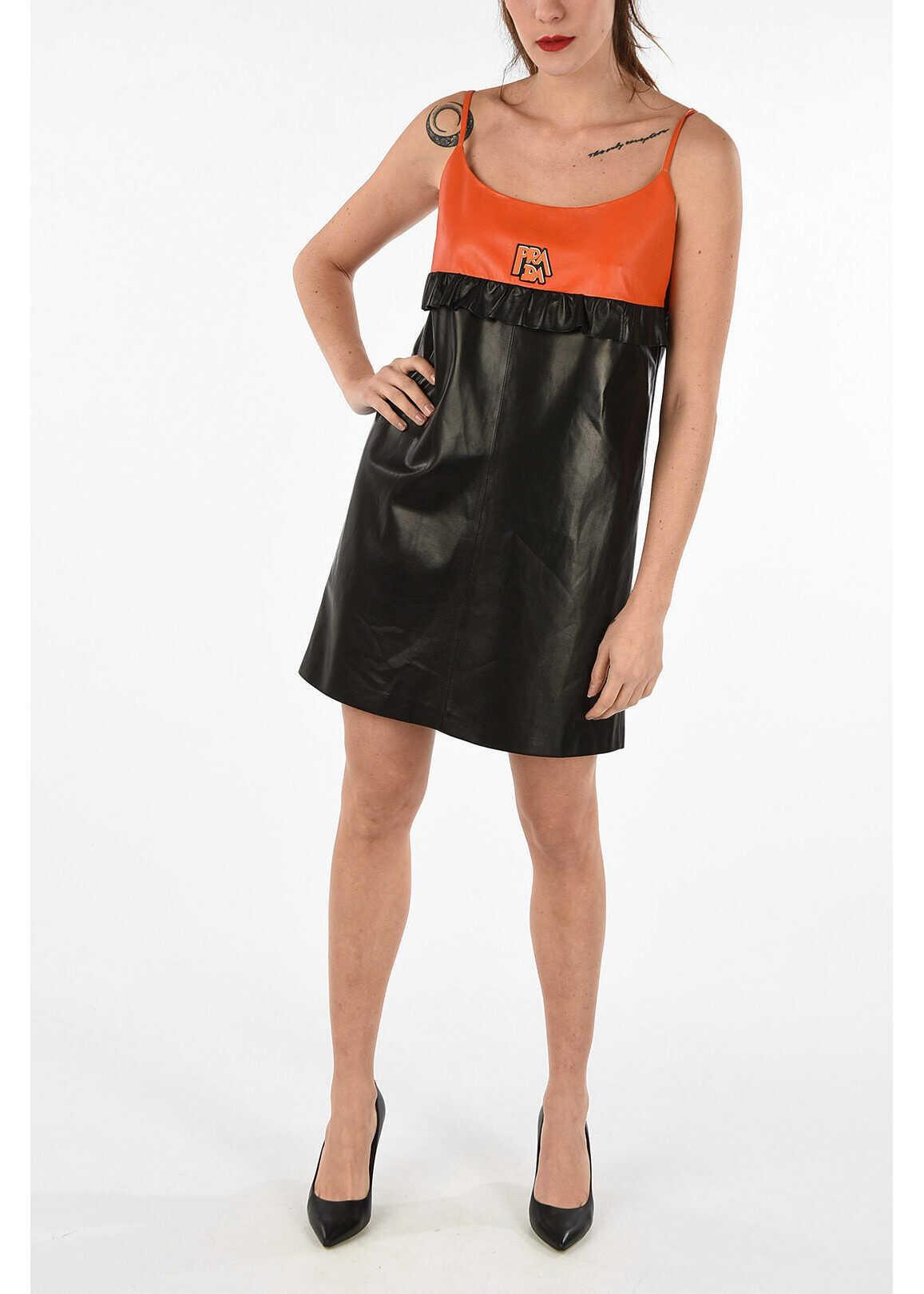 Prada Leather dress MULTICOLOR