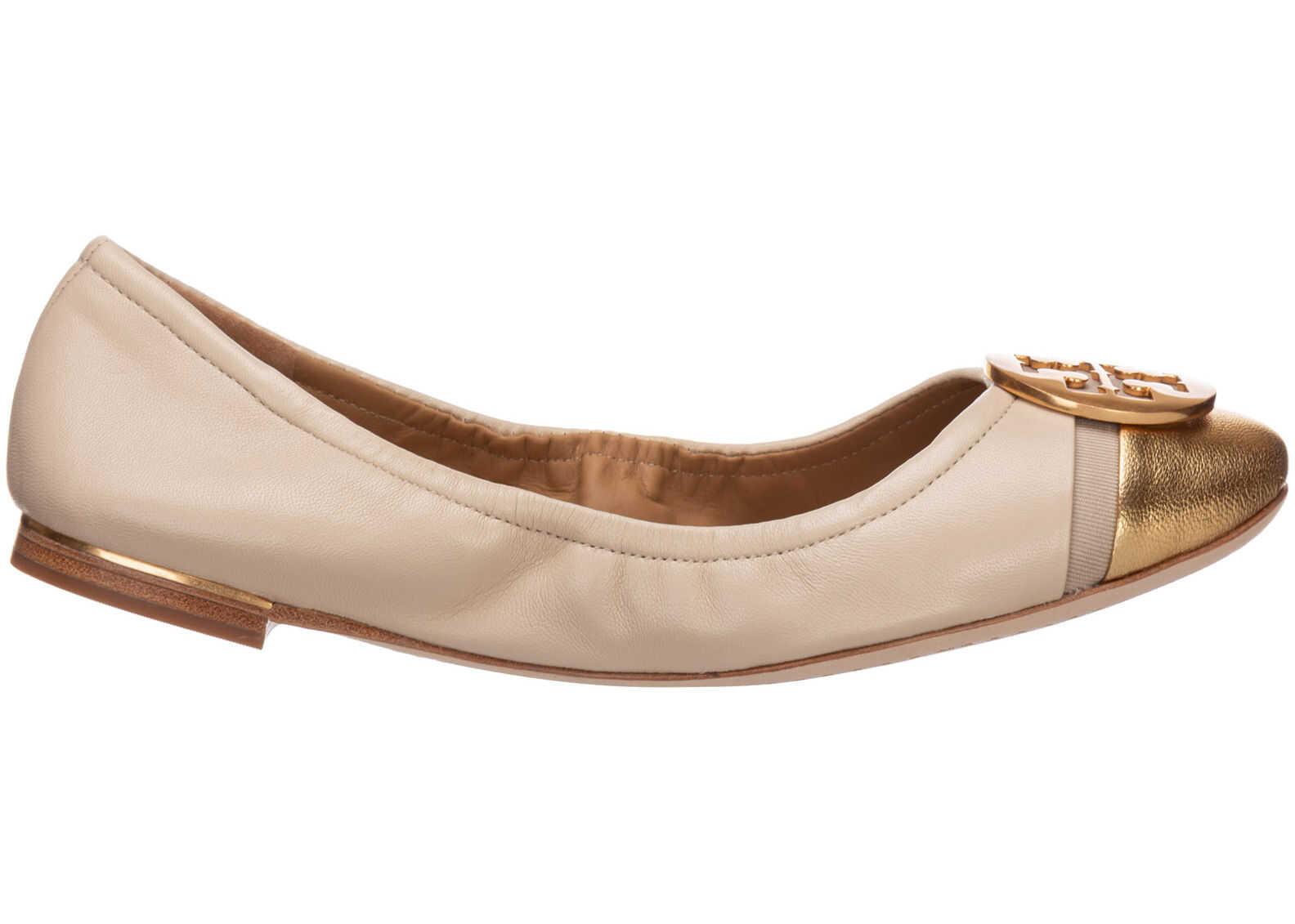Tory Burch Ballerinas Minnie Gold