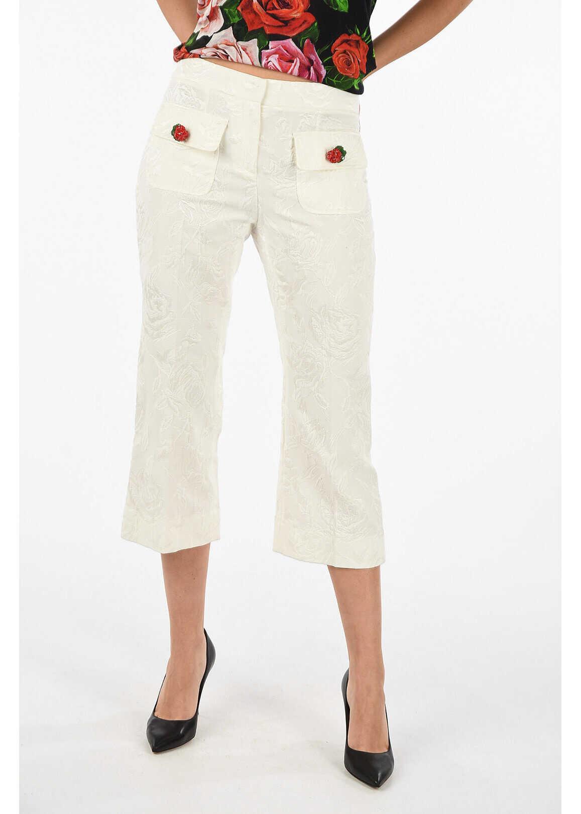 Dolce & Gabbana capri pants WHITE