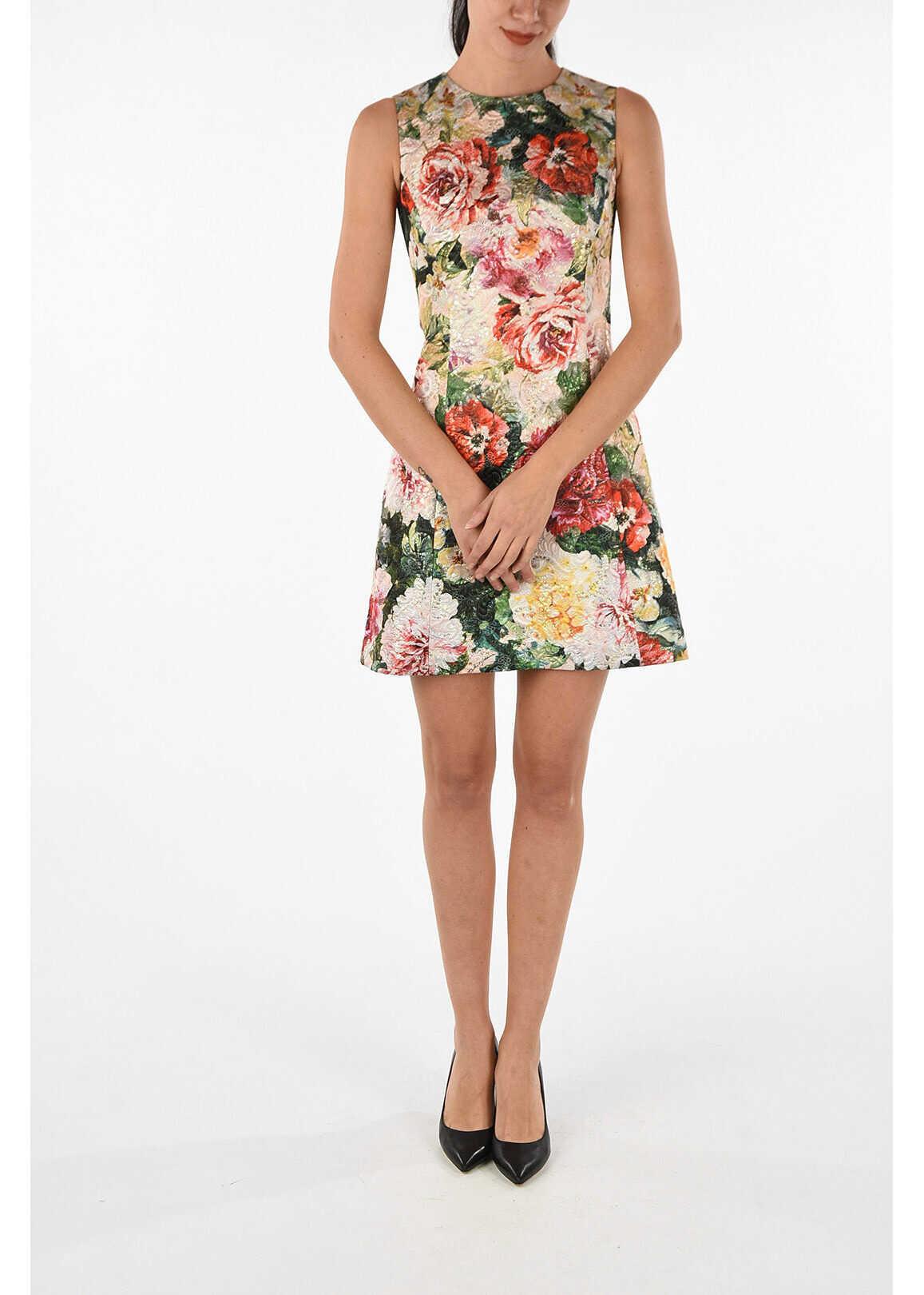 Dolce & Gabbana floral-print a-line dress MULTICOLOR