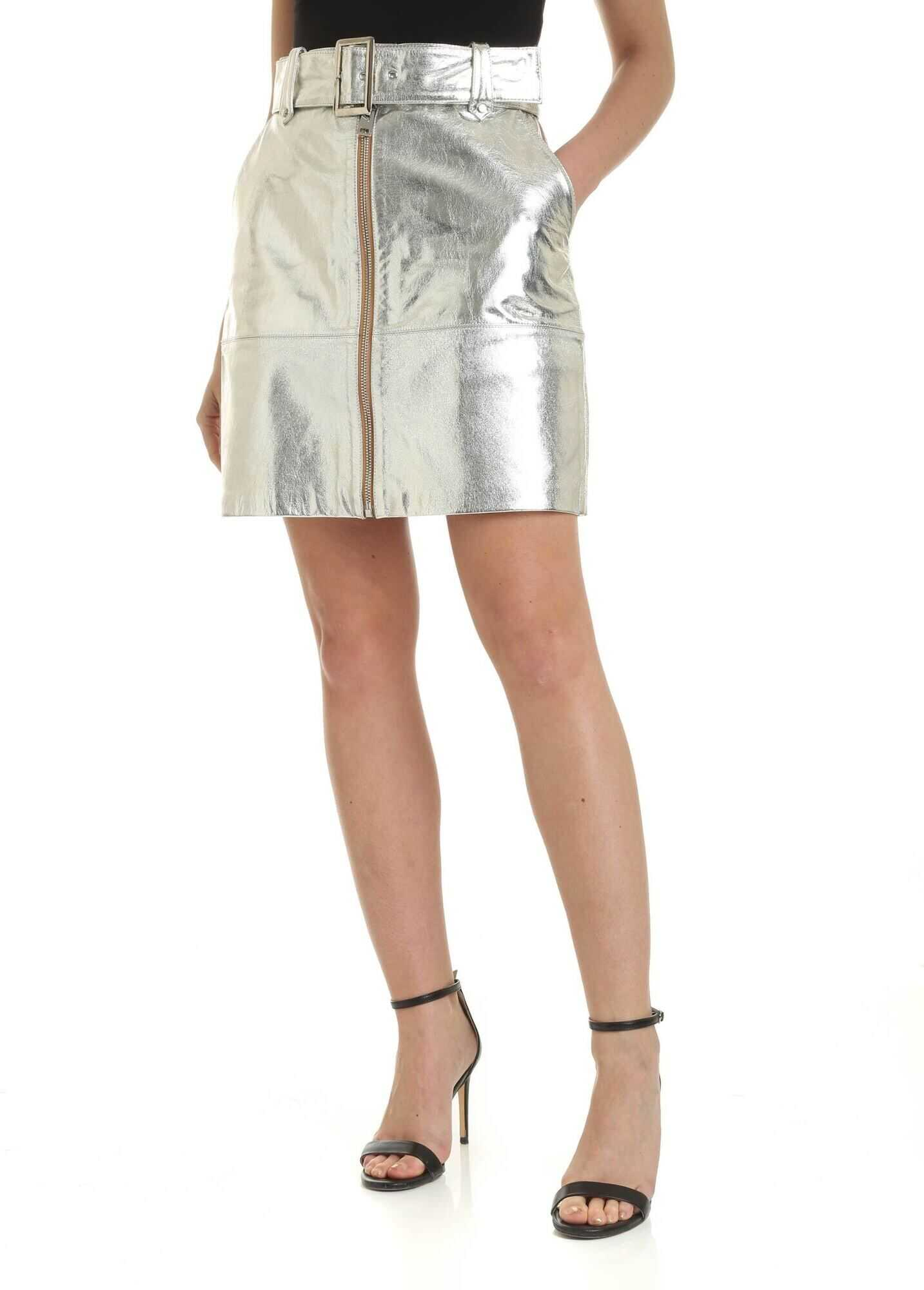 Torta Short Skirt In Silver Color thumbnail