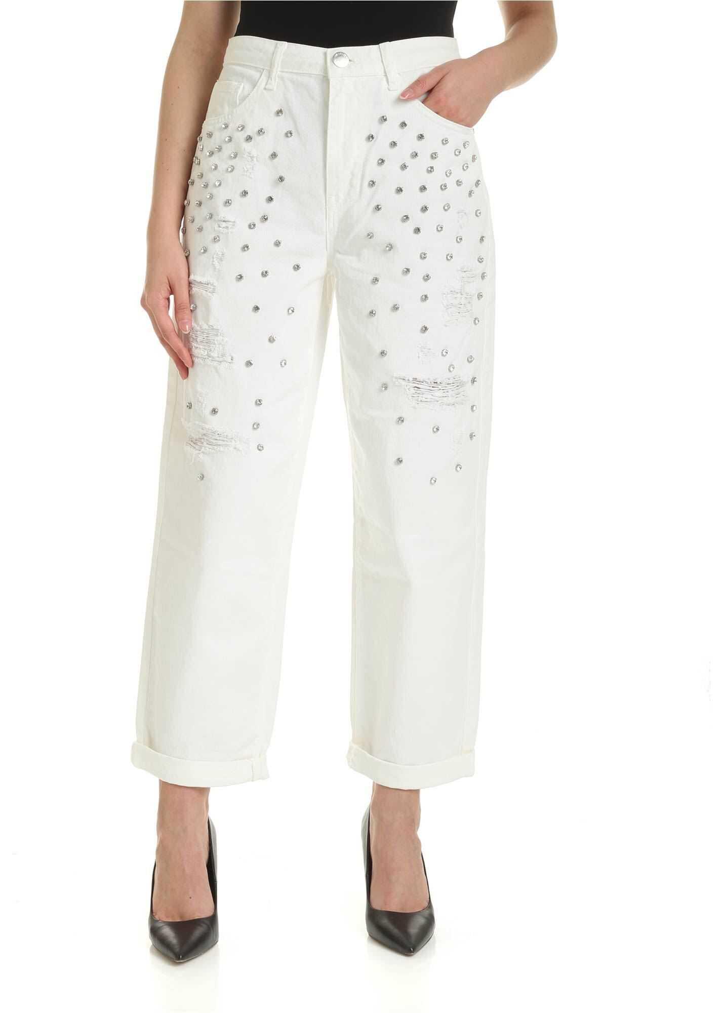 Pinko Maddie 7 Jeans In White White