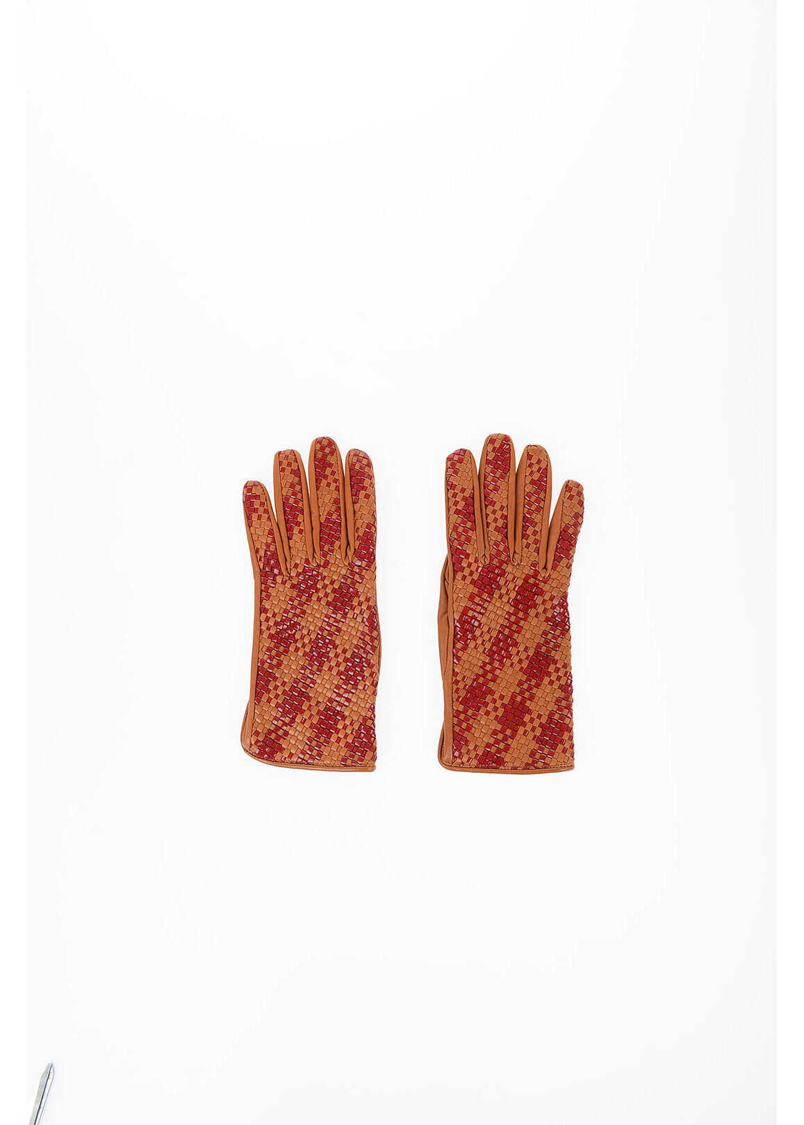 Maison Margiela MM0 Braided Leather Gloves BROWN