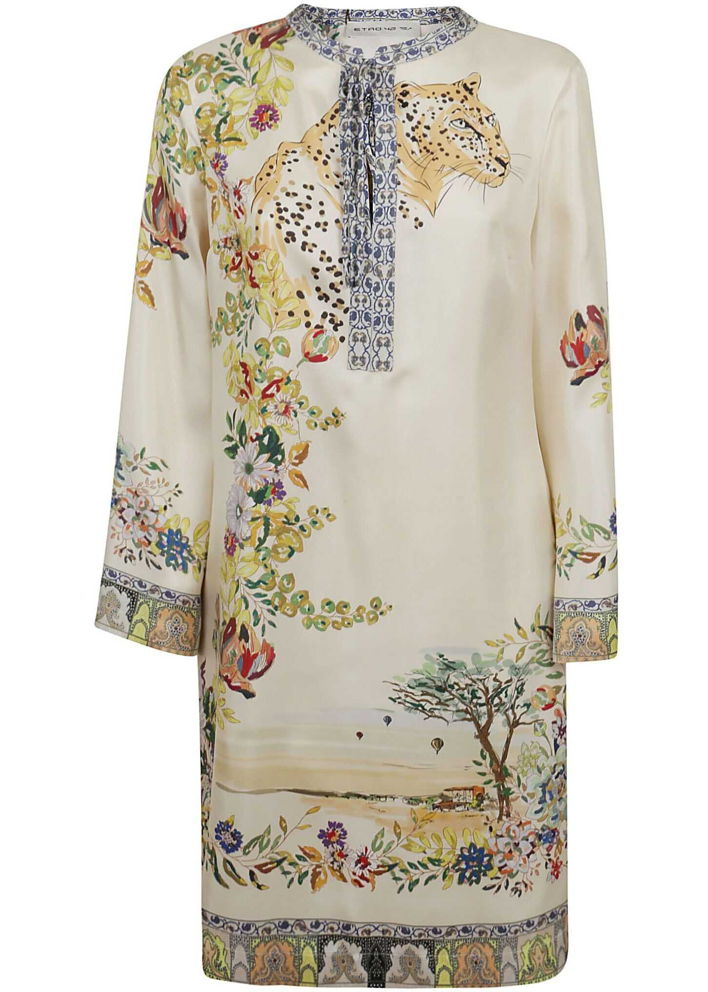 ETRO Polyester Dress BEIGE
