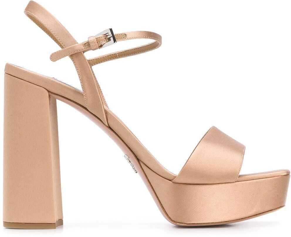 Prada Leather Sandals GOLD