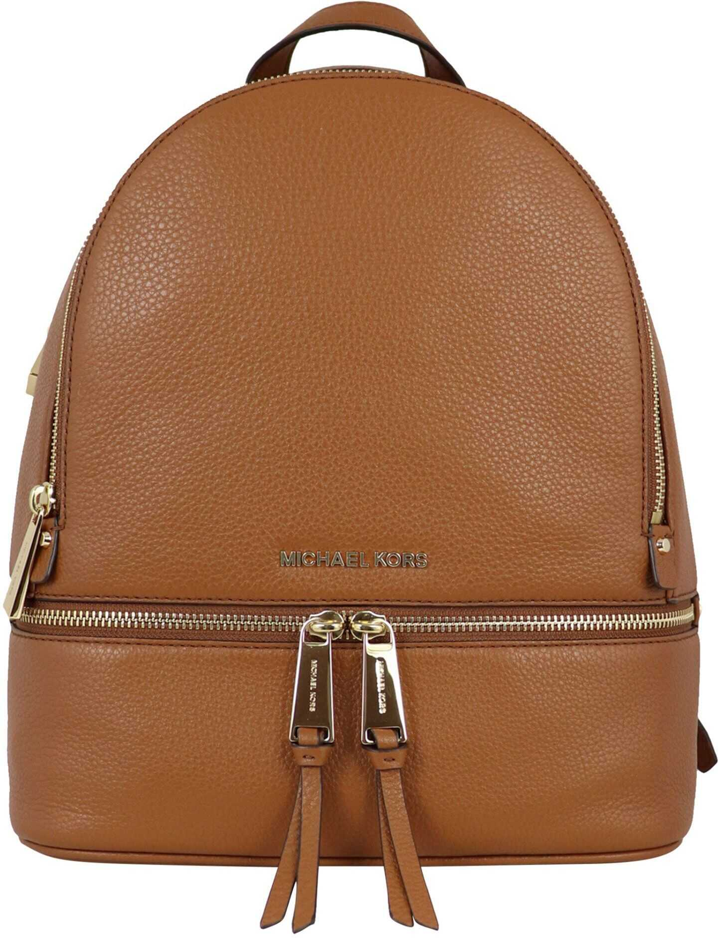 Michael Kors Leather Backpack BROWN