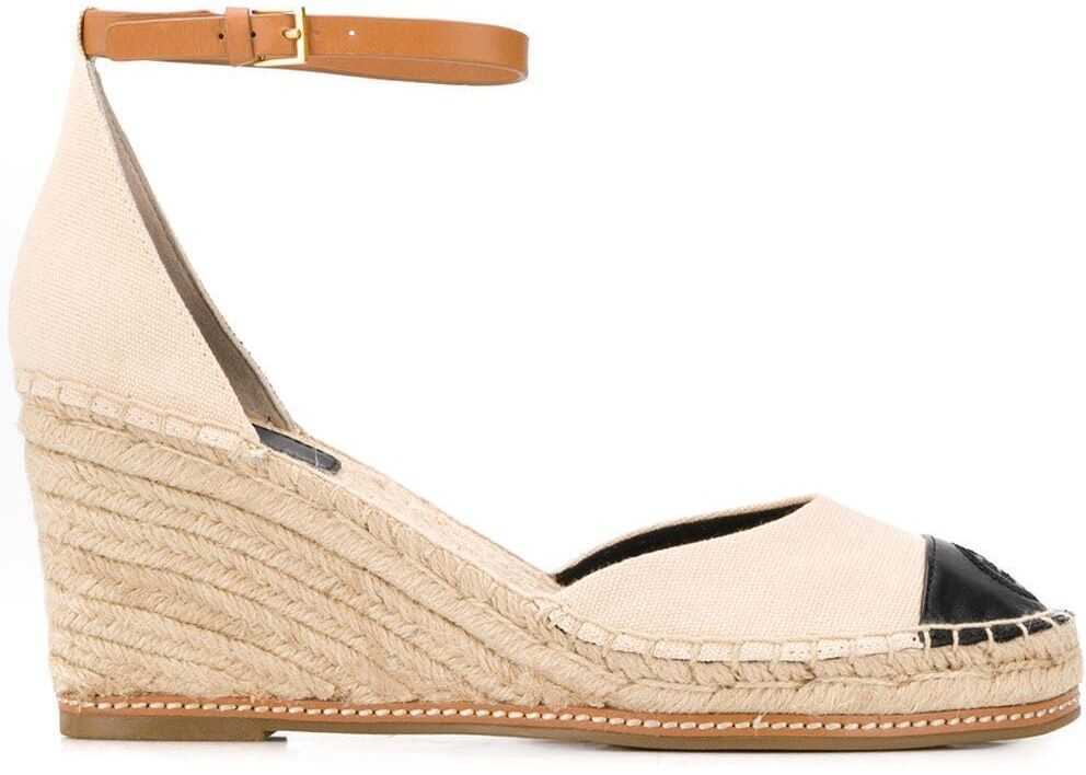 Tory Burch Leather Wedges BEIGE