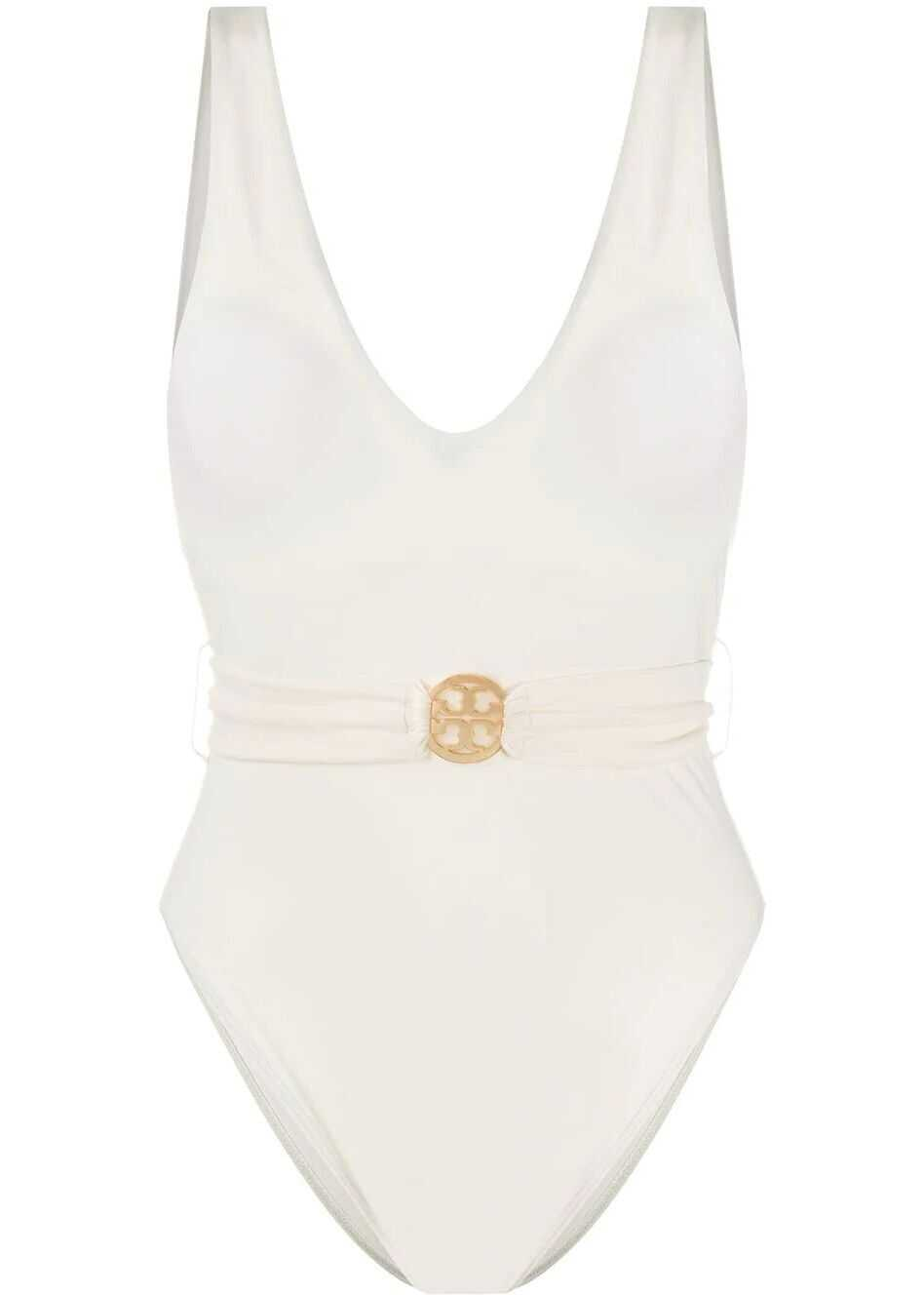 Tory Burch Polyester One-Piece Suit WHITE