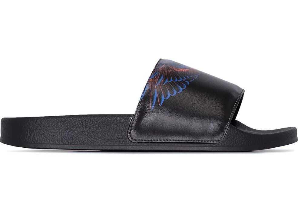Marcelo Burlon Rubber Sandals BLACK