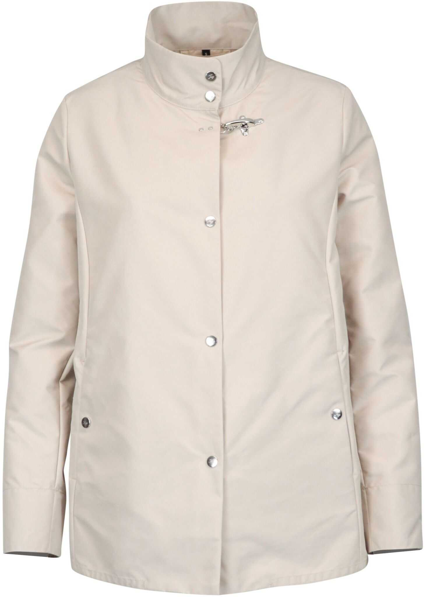 Fay Polyester Outerwear Jacket BEIGE