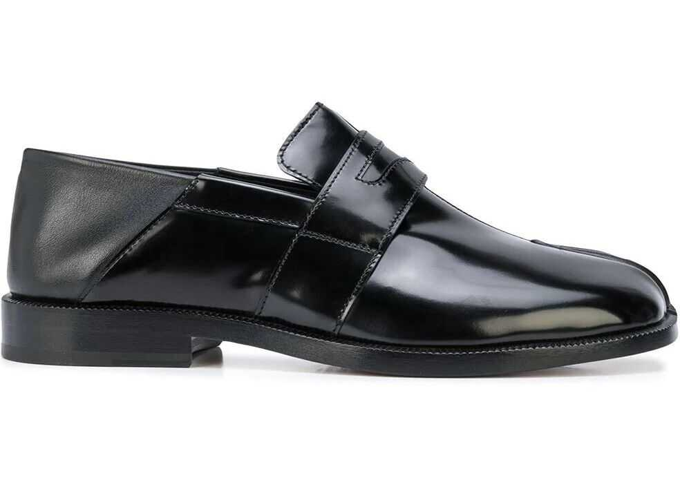 Maison Margiela Leather Loafers BLACK