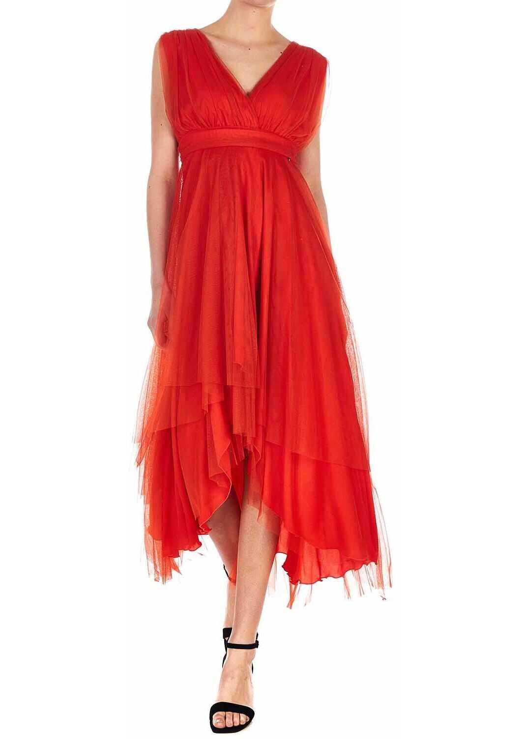 Liu Jo Asymmetrical tulle dress Red