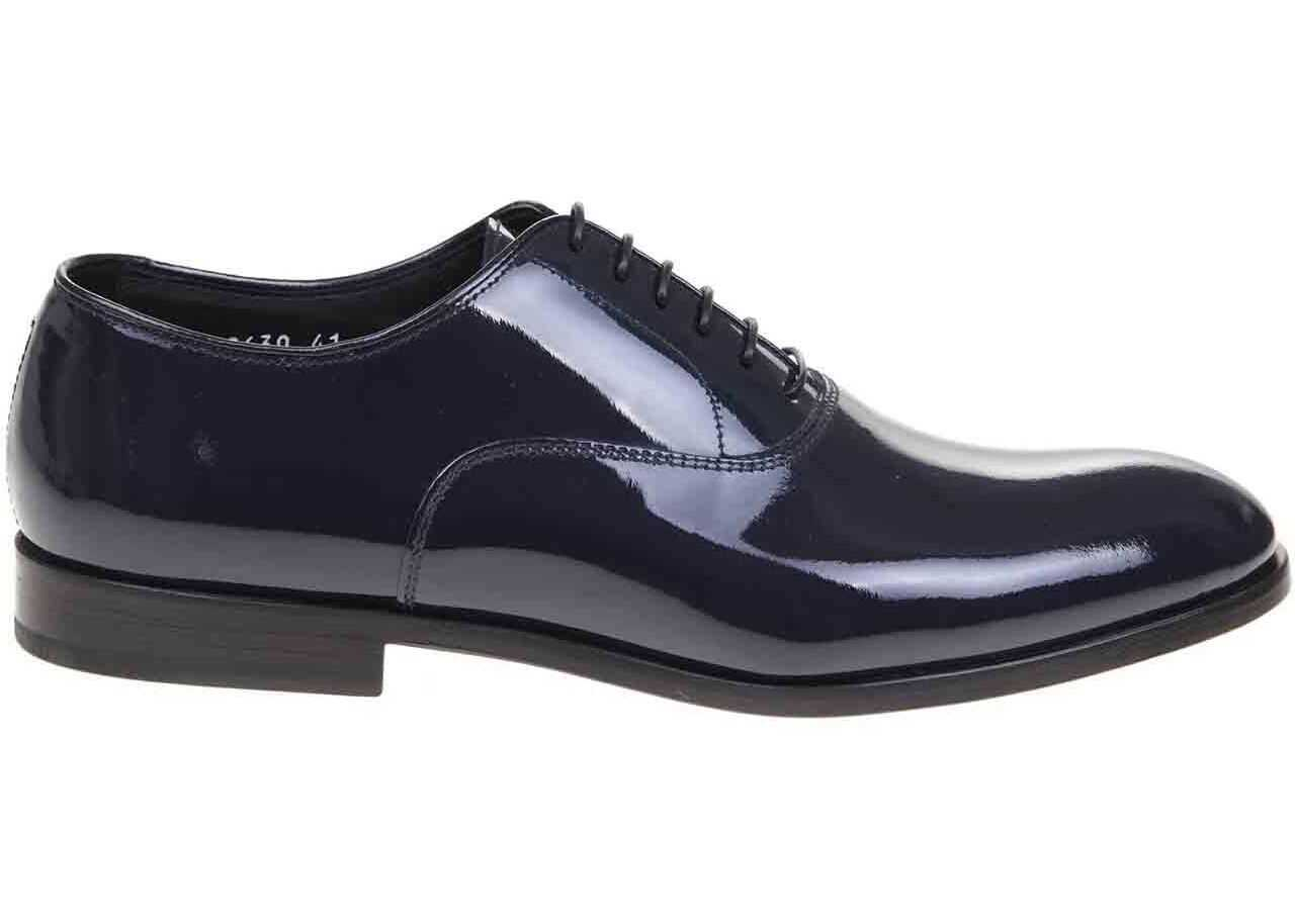 Oxford In Shiny Blue Leather thumbnail