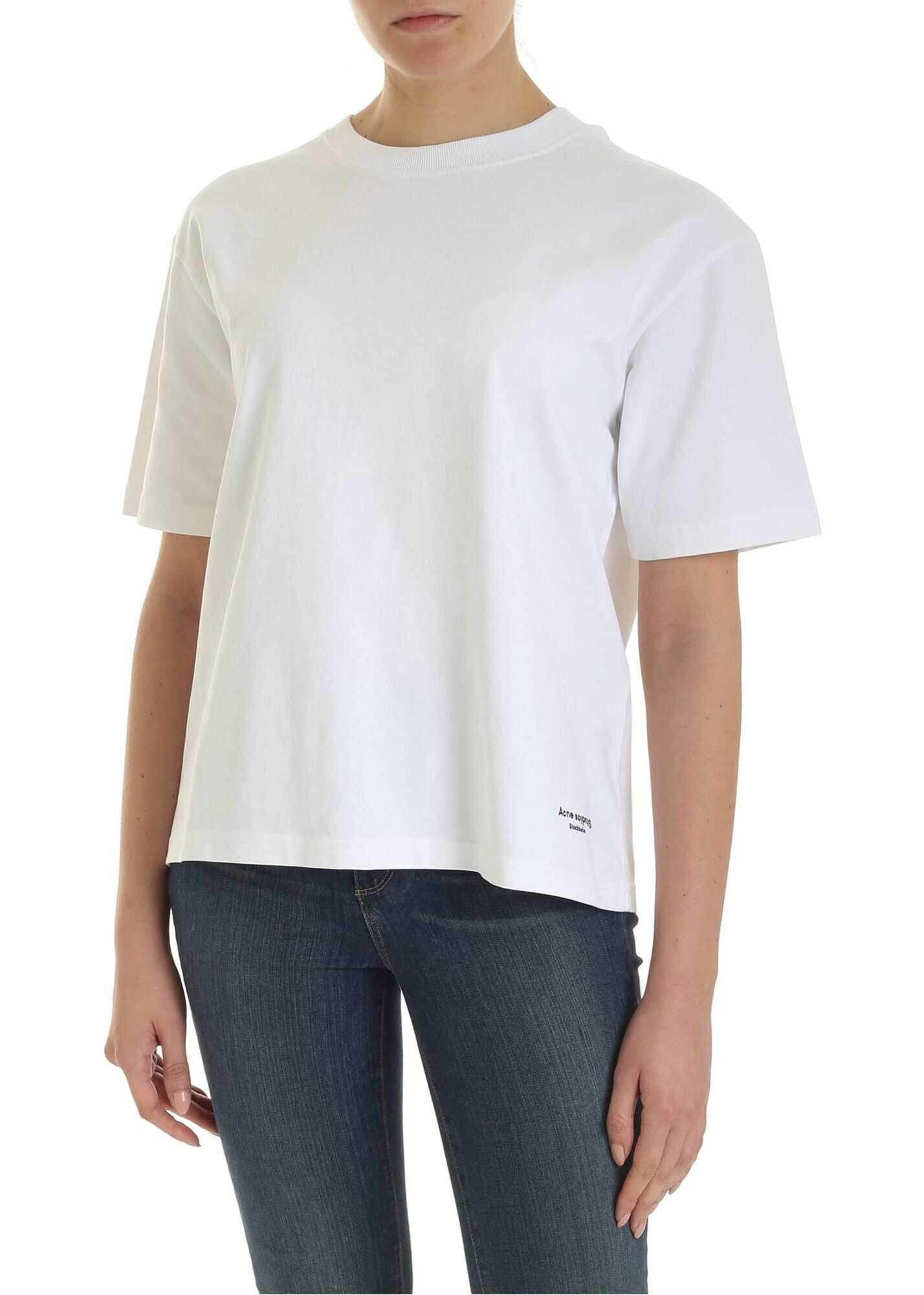 Acne Studios Contrasting Ribbon T-Shirt In White White