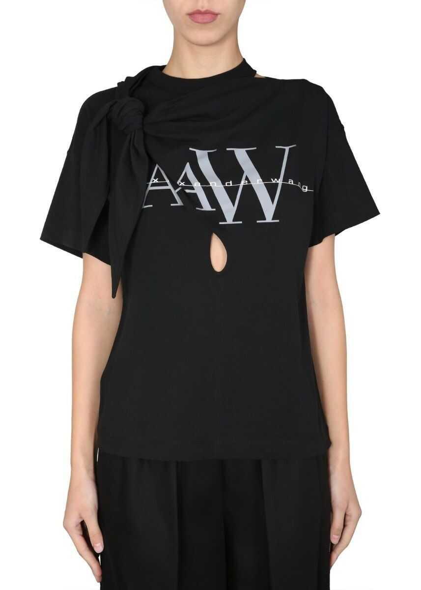 Alexander Wang Cotton T-Shirt BLACK