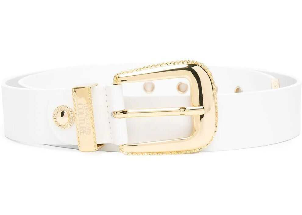Versace Jeans Leather Belt WHITE