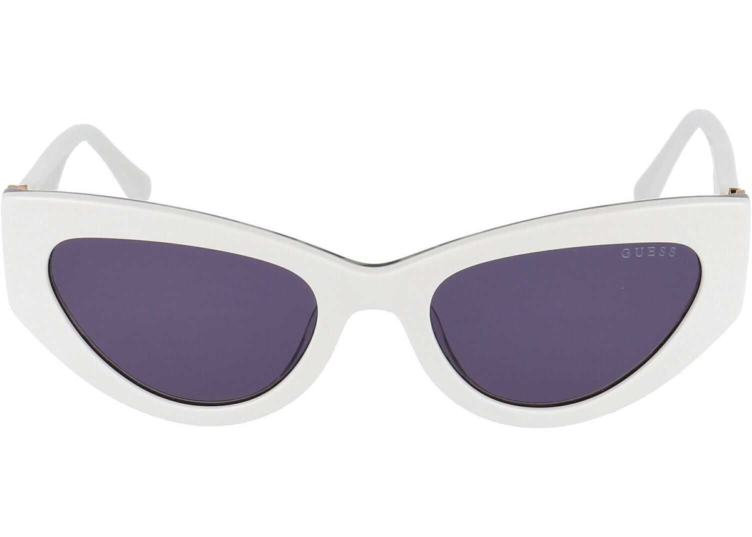 GUESS Acetate Sunglasses WHITE