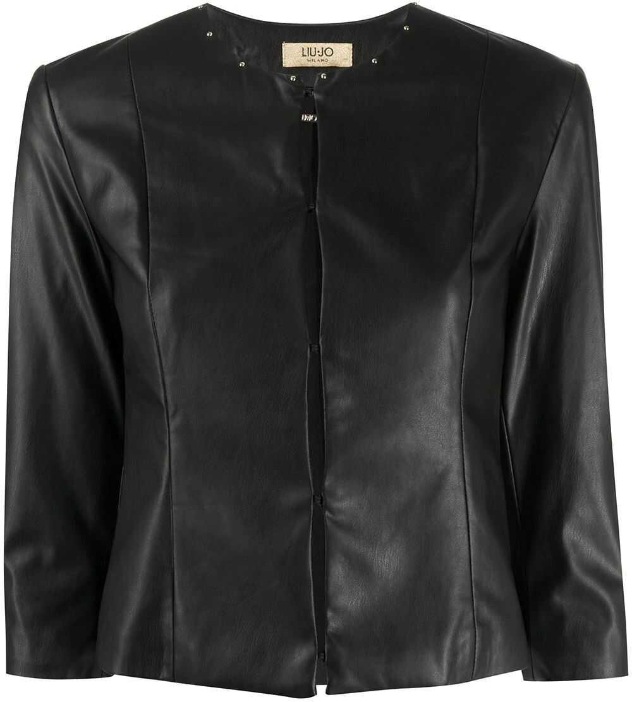 Liu Jo Faux Leather Outerwear Jacket BLACK