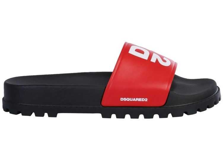 DSQUARED2 Leather Sandals RED