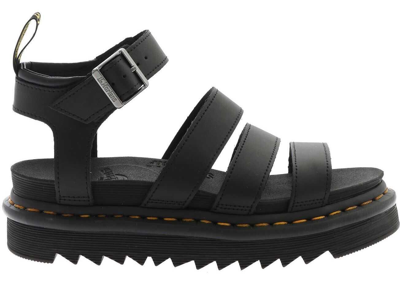 Dr. Martens Blaire Hydro Sandals In Black Black