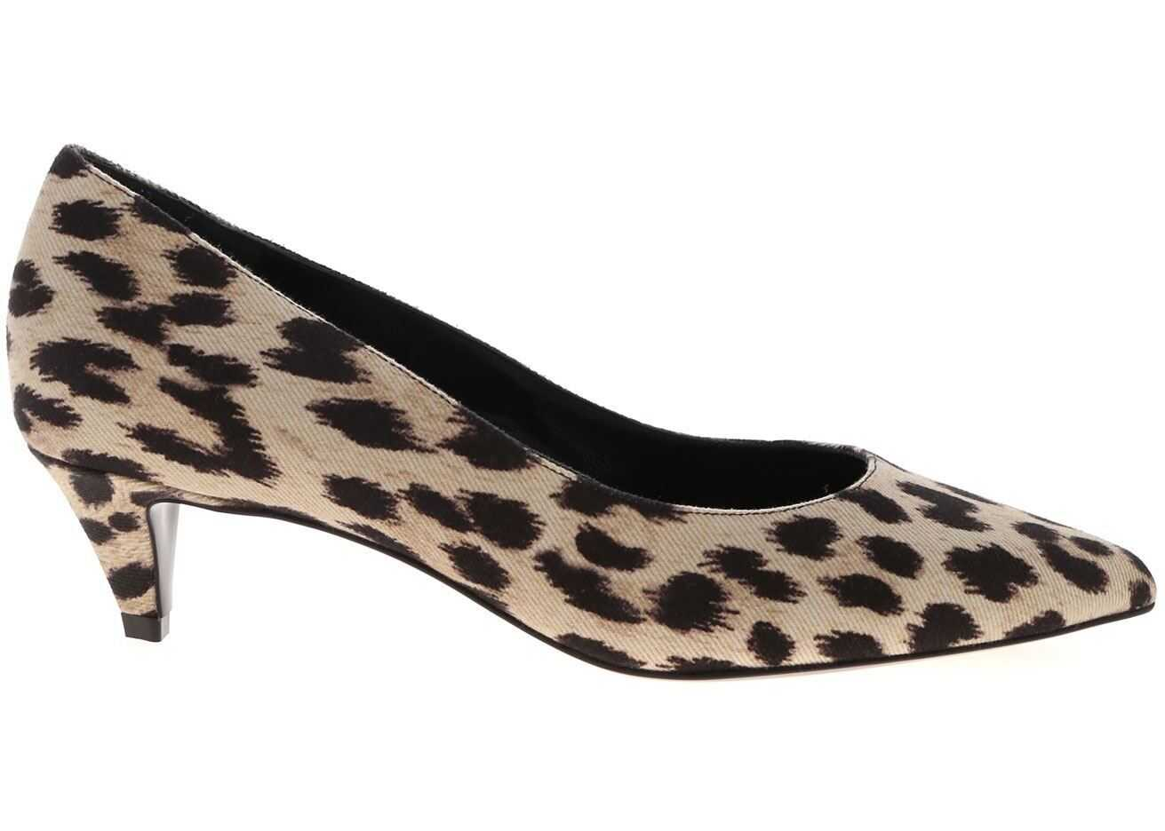 Céline Leopard Pumps In Beige And Black Animal print
