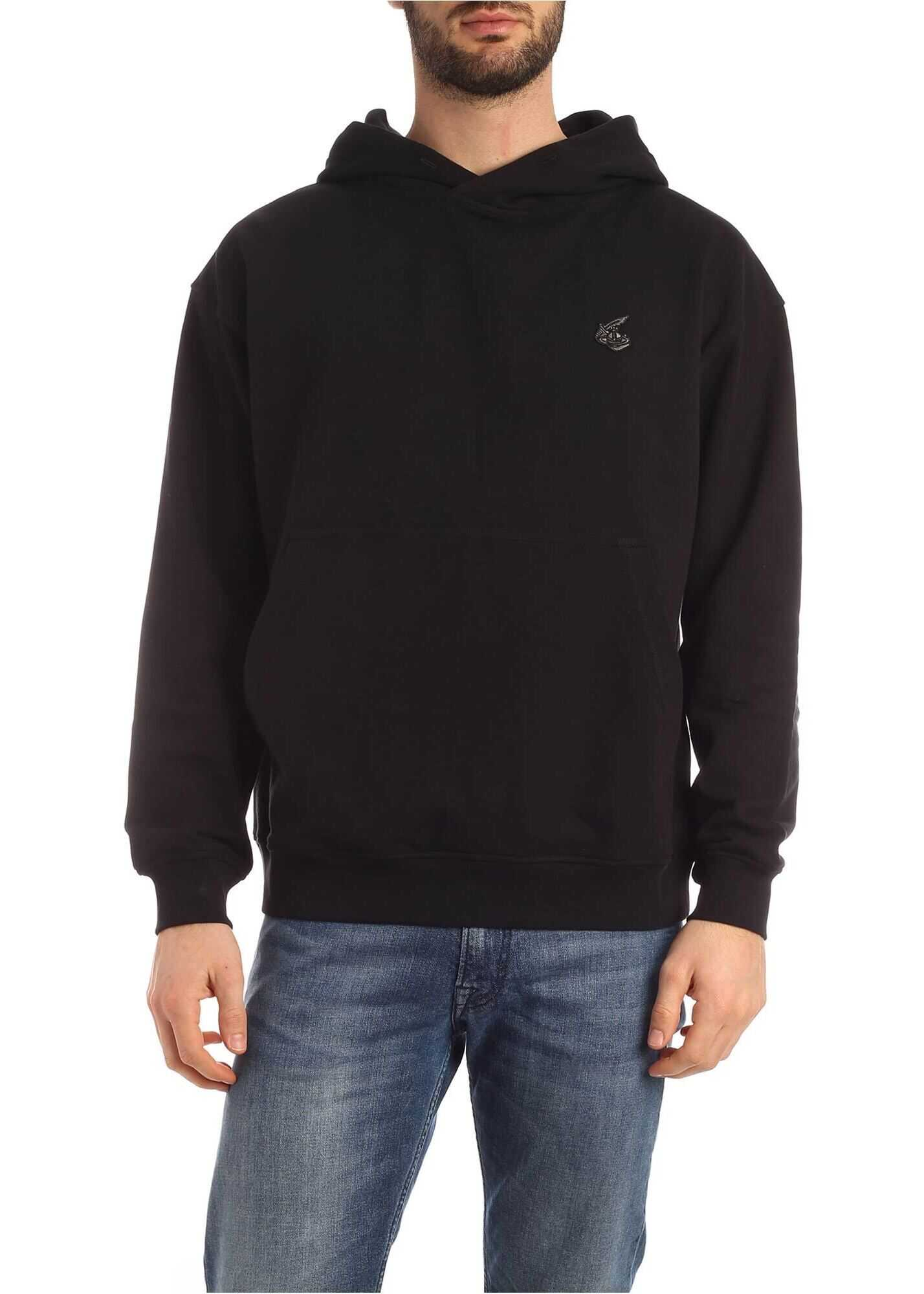 Vivienne Westwood Anglomania Arm And Cutlass Orb Logo Sweatshirt In Black Black