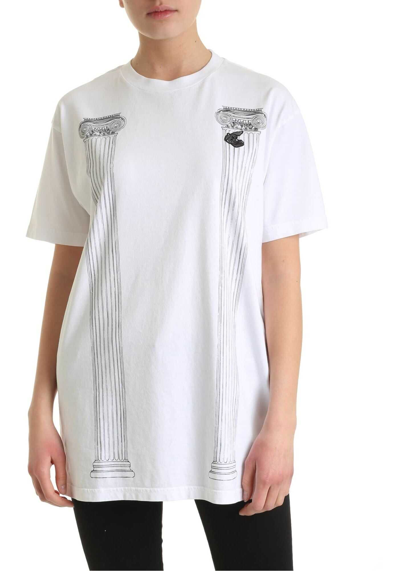 Vivienne Westwood Anglomania New Boxy Pillar T-Shirt In White White