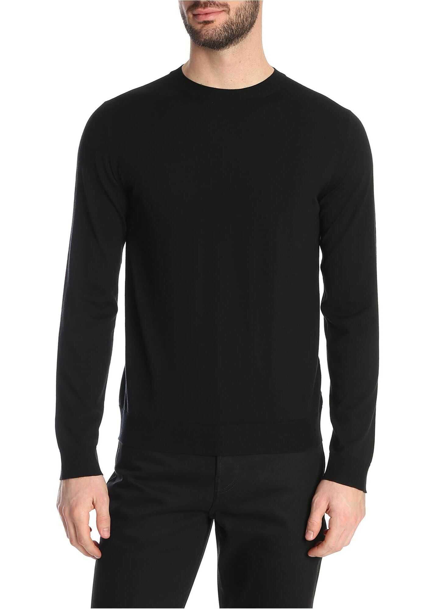 Valentino Garavani Crew-Neck Pullover In Black With Stud Detail Black imagine