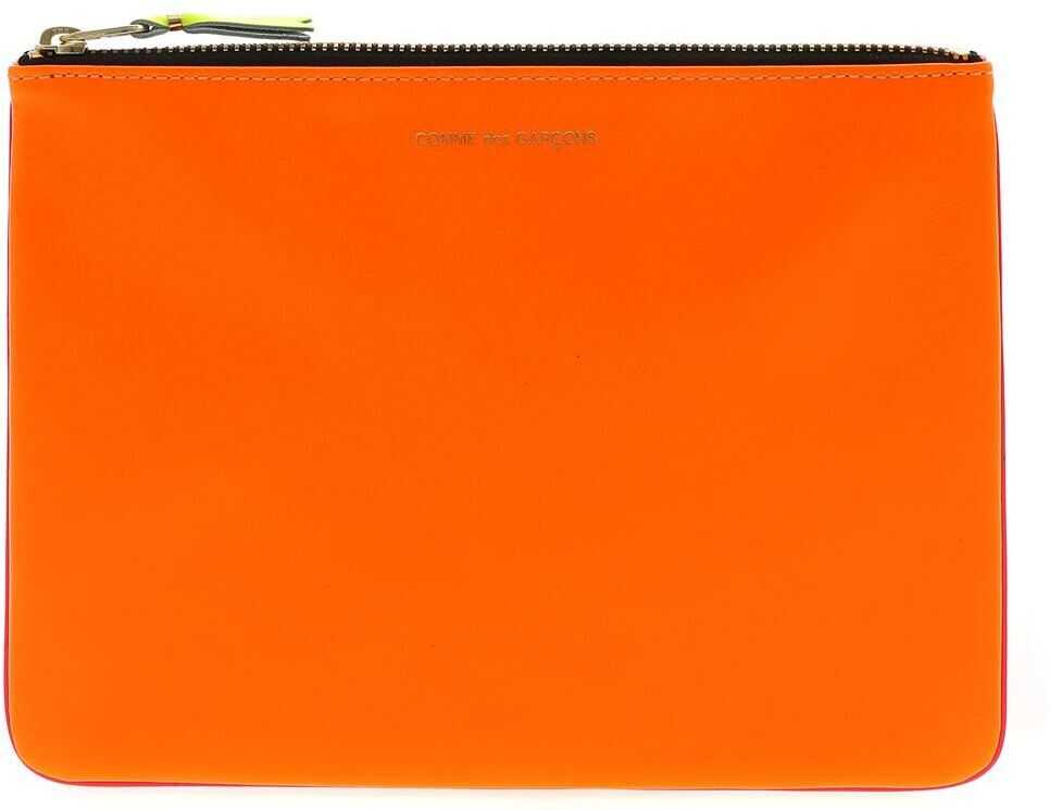 Super Fluo Pouch In Orange And Pink thumbnail