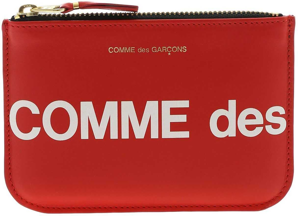 Comme des Garçons Huge Logo Purse In Red SA8100HL RED Red imagine b-mall.ro