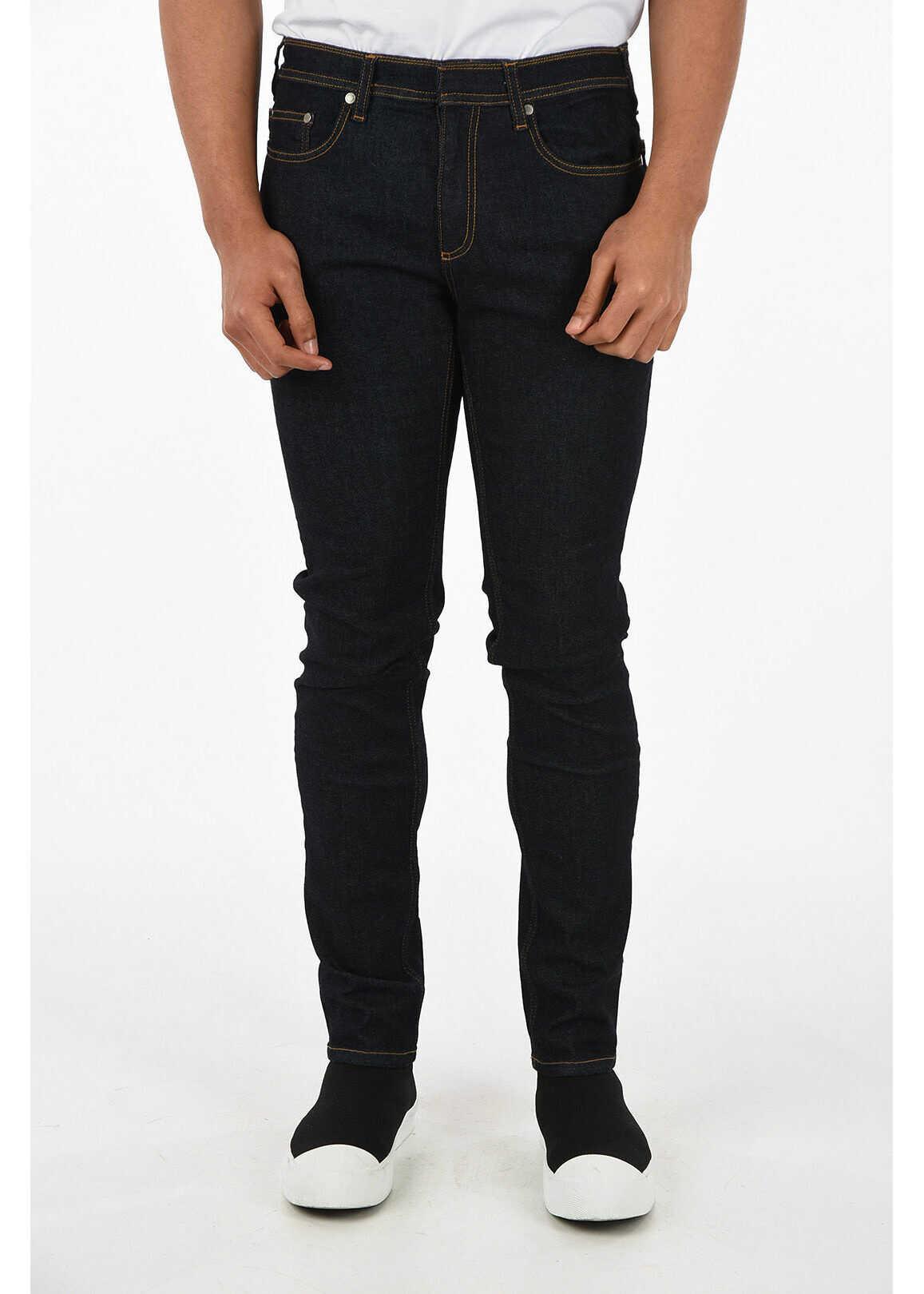 Neil Barrett 5 Pocket Skinny Fit Jeans 16 cm BLUE