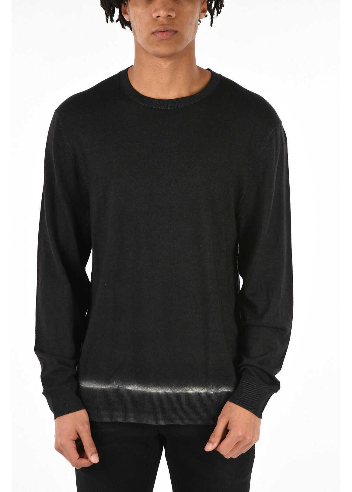 Neil Barrett Bleached Crewneck Sweater GRAY