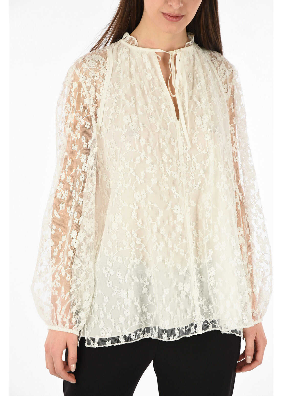 Chloe lace blouse WHITE