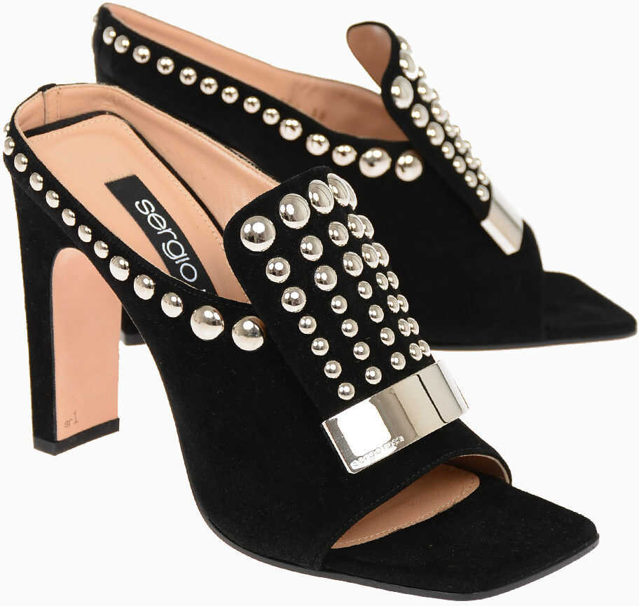 Suede Mules with Studs 11.5 cm thumbnail