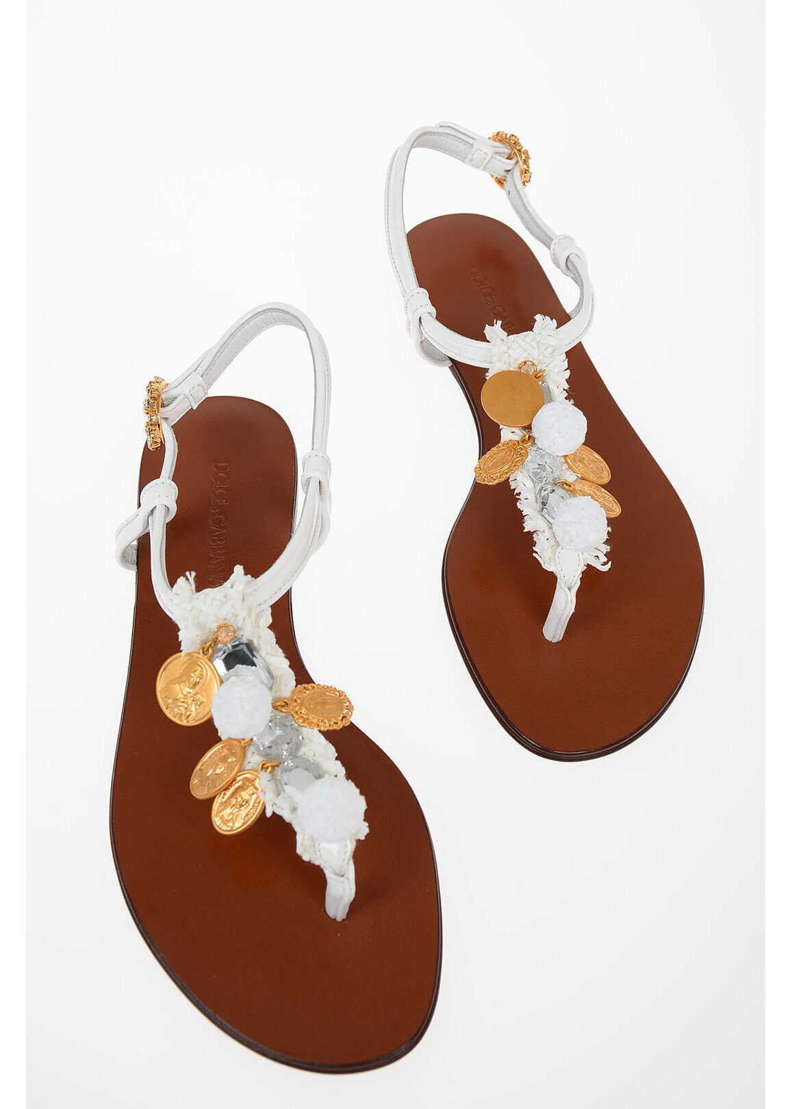 Thong Sandals with Jewel Applications thumbnail