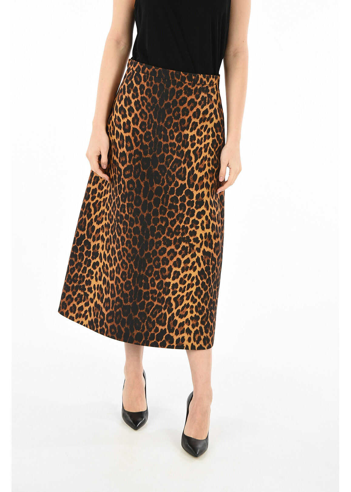 Gucci leopard-print a-line skirt BROWN