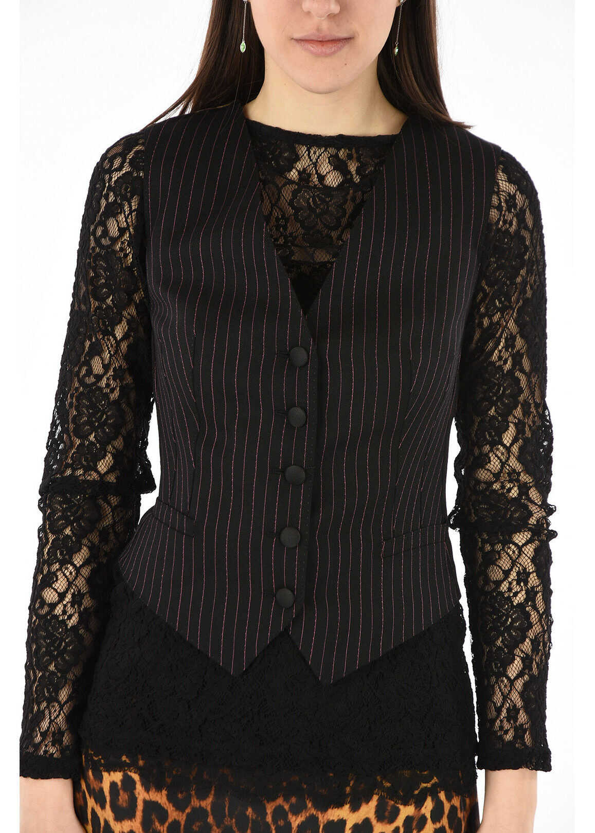 Dolce & Gabbana virgin wool vest BLACK
