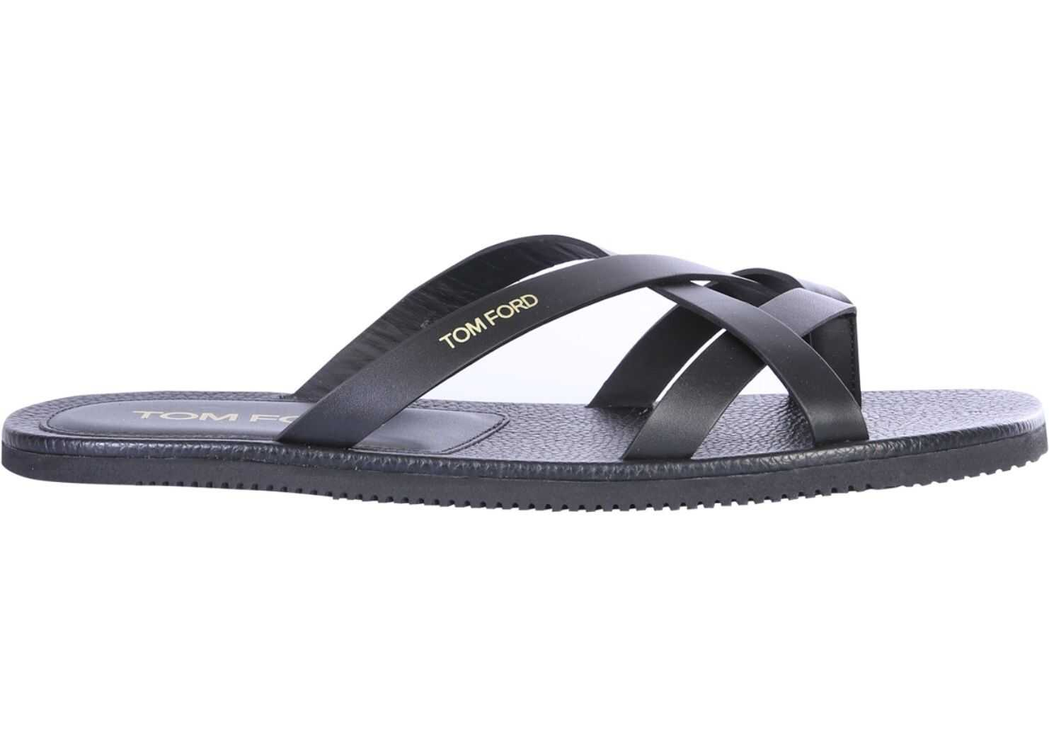 Tom Ford Sandals With Logo BLACK