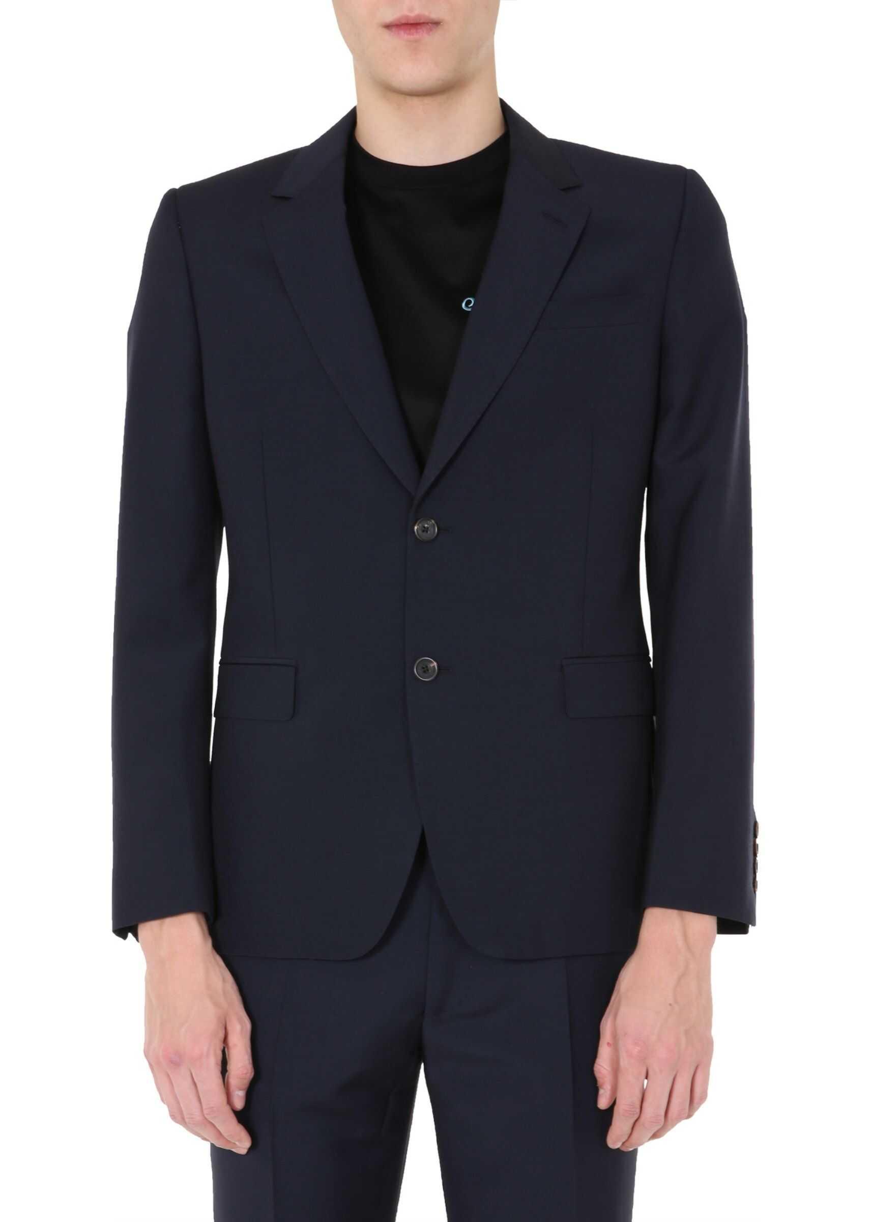 Alexander McQueen Single-Breasted Jacket BLUE imagine
