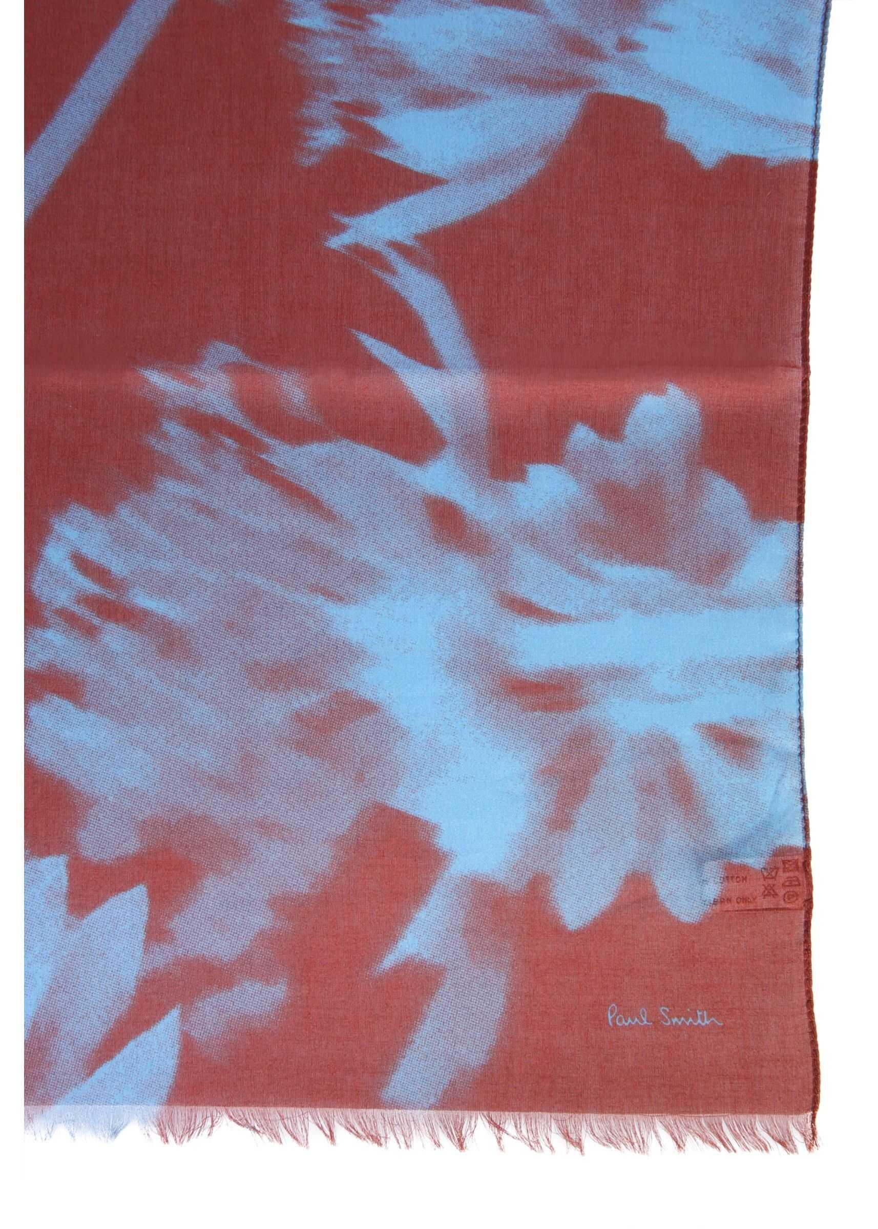 Paul Smith Floral Print Scarf ORANGE