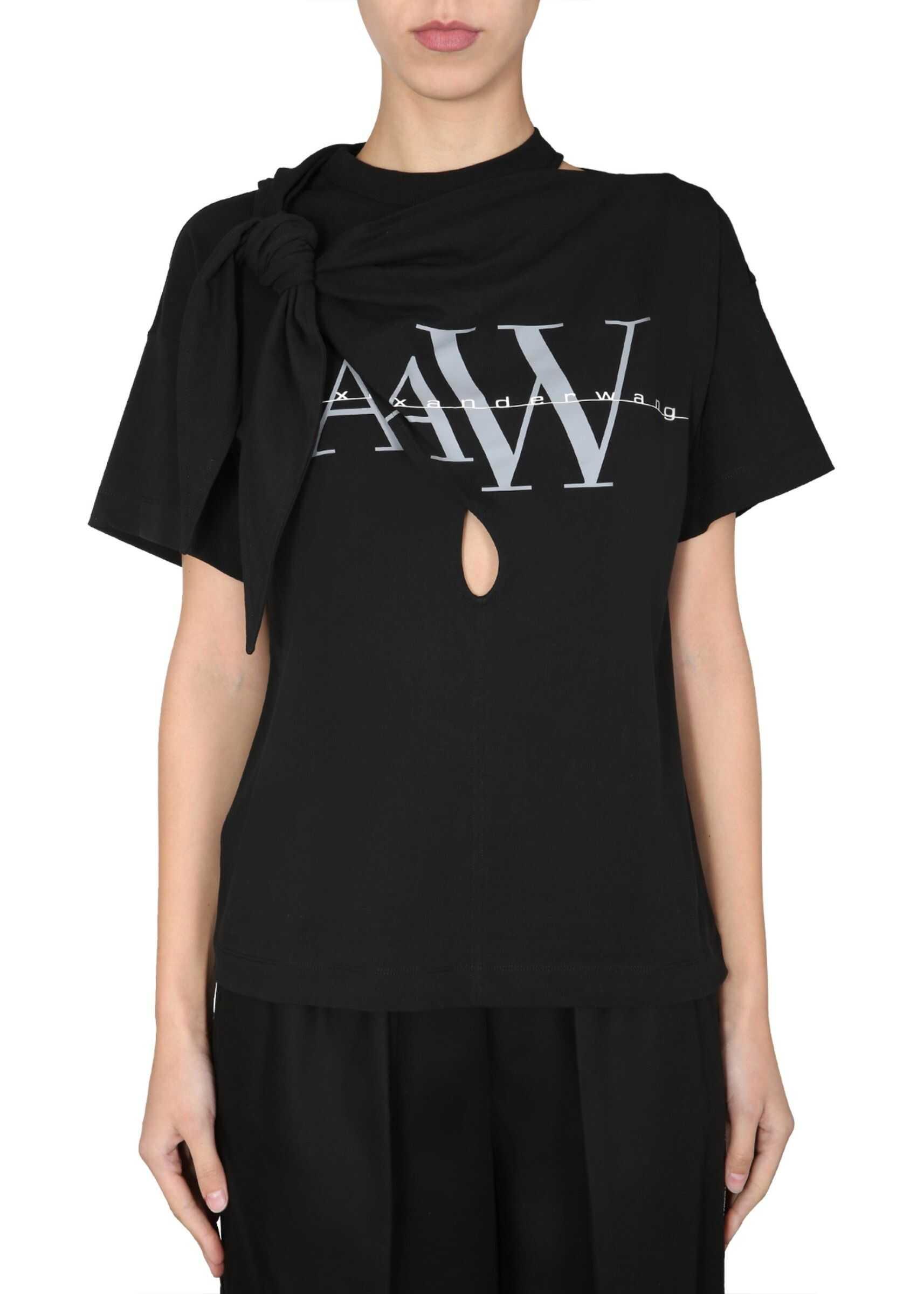 Alexander Wang Destructured T-Shirt BLACK
