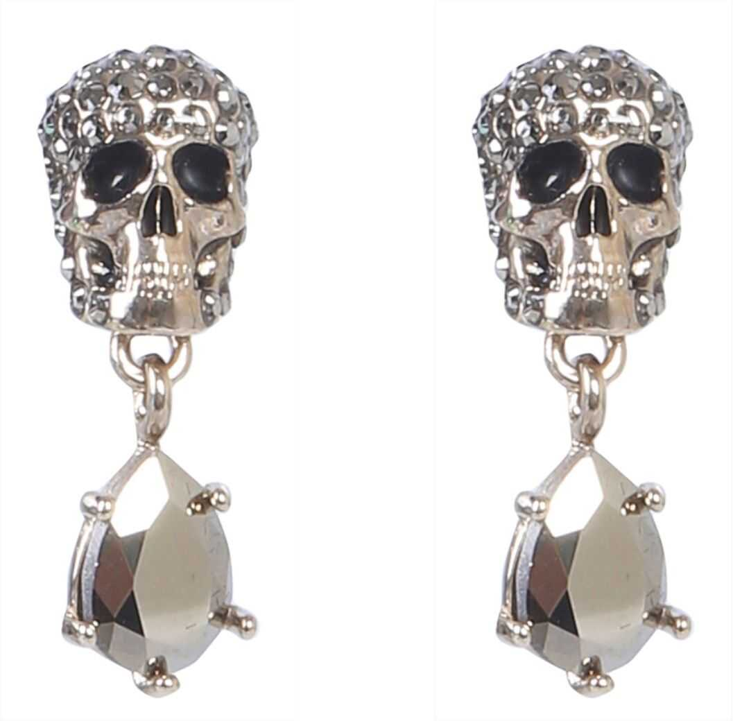 Skull Earrings With Stones thumbnail