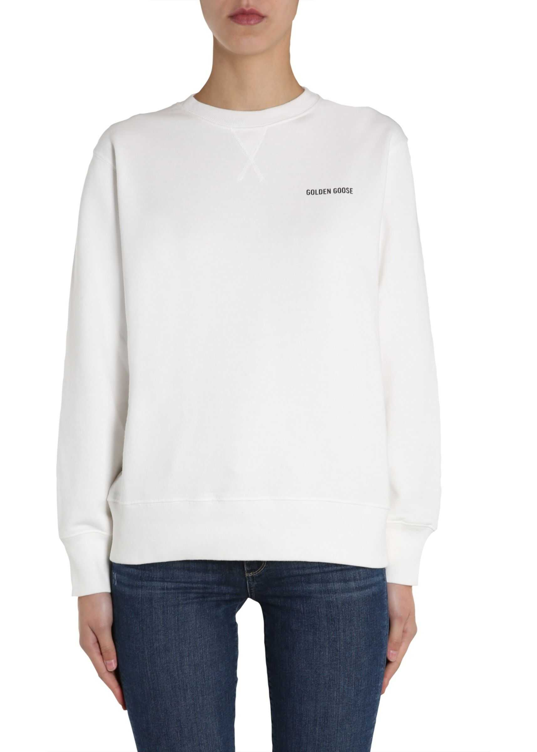 Golden Goose Round Neck Sweatshirt WHITE