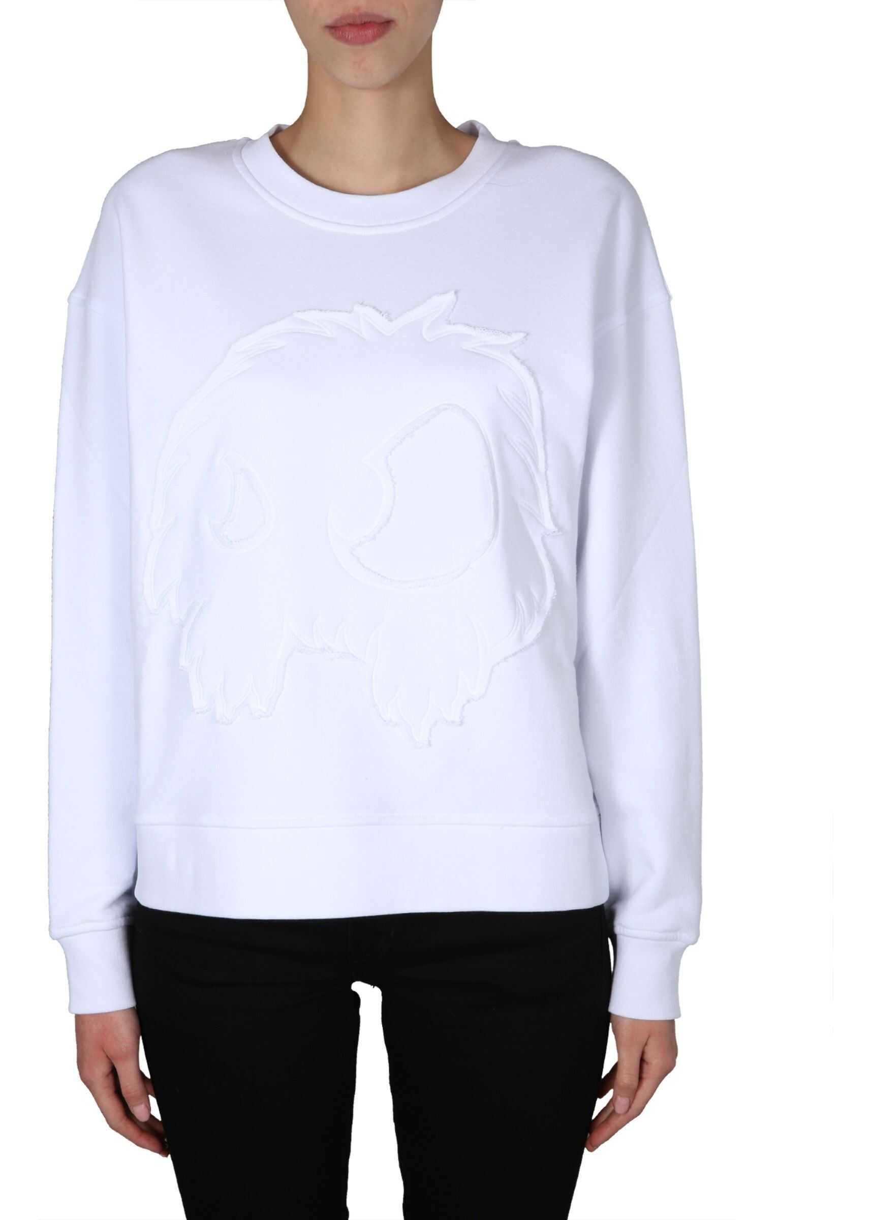 MCQ Alexander McQueen Round Neck T-Shirt WHITE