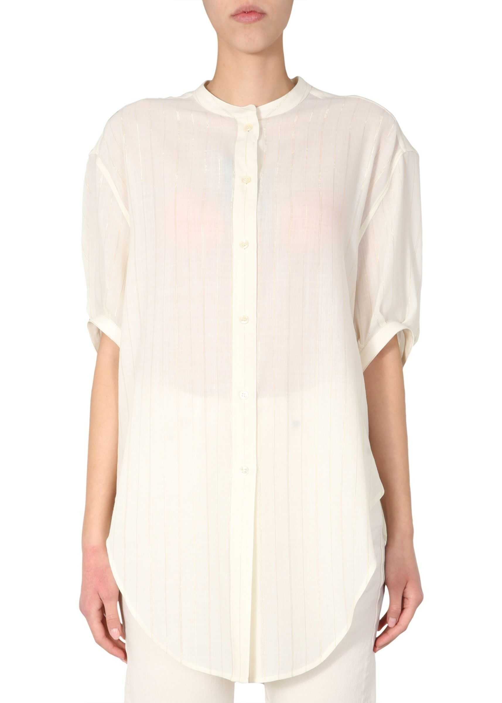 Saint Laurent Striped Shirt WHITE