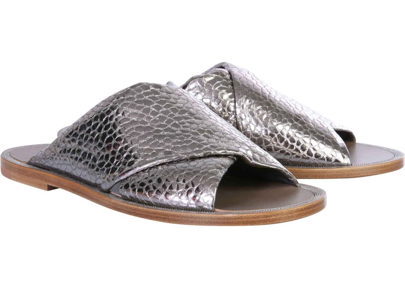 Crossed Slide Sandals thumbnail