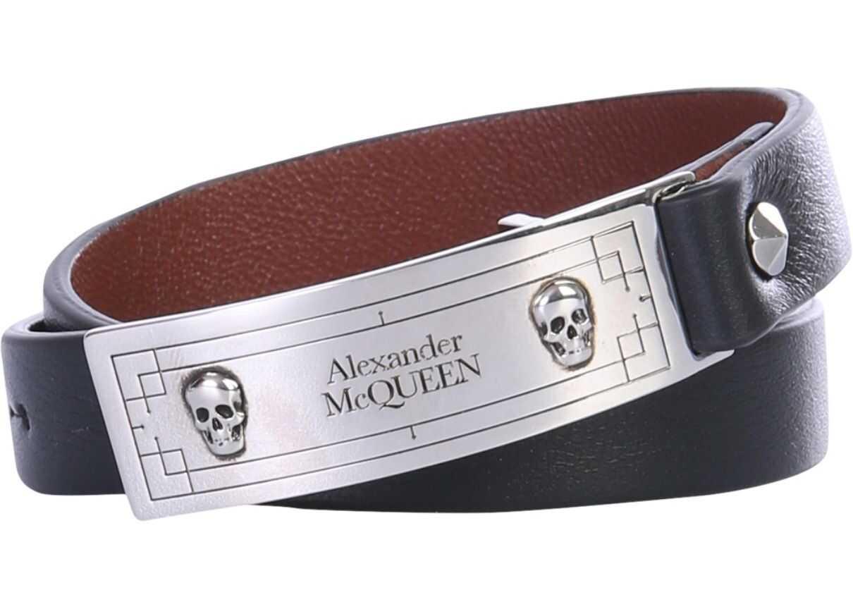 Alexander McQueen Bracelet With Logo BLACK